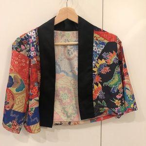 Japanese style colorful cardigan